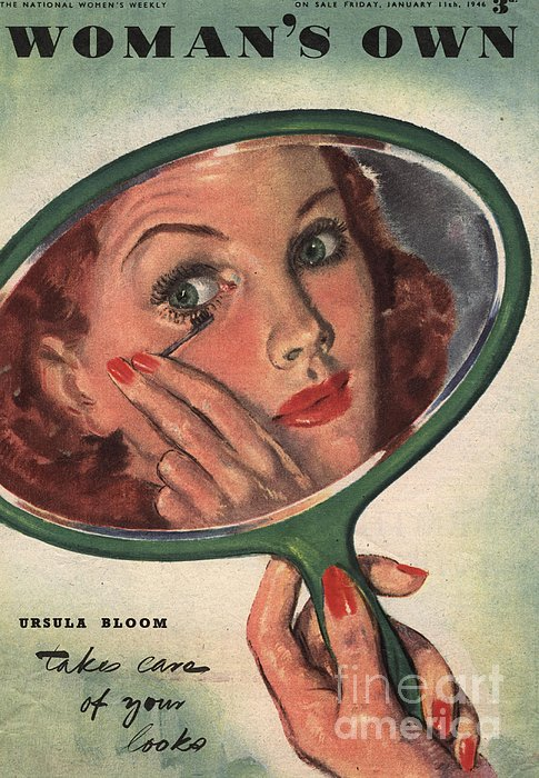 Woman�s Own 1944 1940s Uk Make-up Print by The Advertising Archives