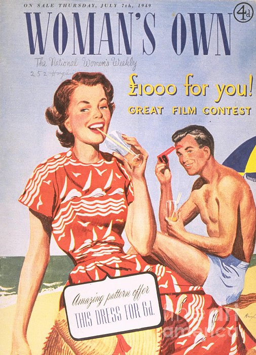 Womans Own 1949 1940s  Uk Holidays Print by The Advertising Archives
