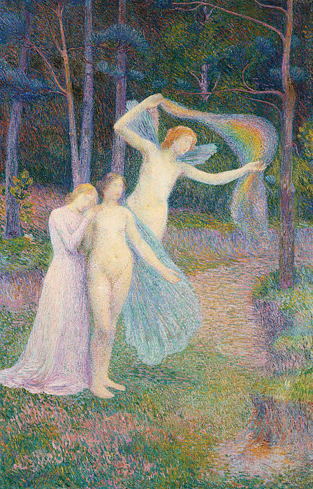 Women Amongst The Trees Print by Hippolyte Petitjean