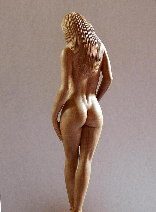 naked women wooden carving