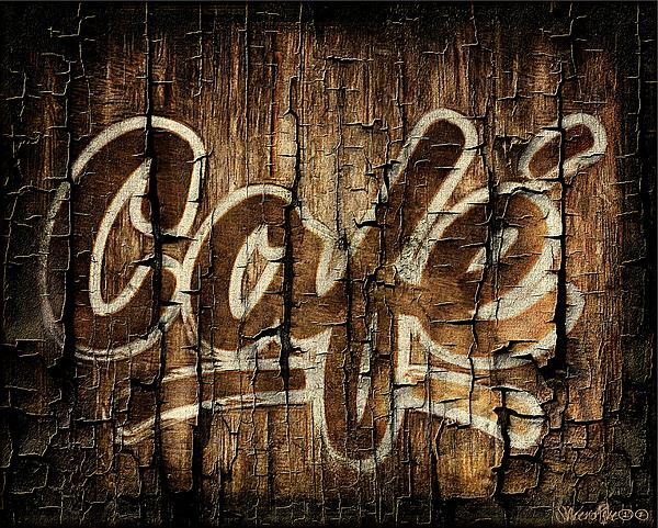 Wooden Cafe Sign Print by Sheena Pike