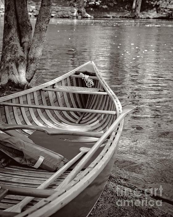 Wooden Canoe Print by Edward Fielding