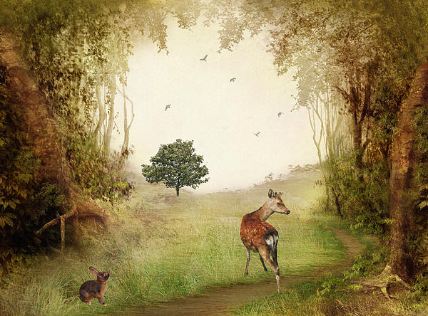 Woodland Friends Print by Sharon Lisa Clarke