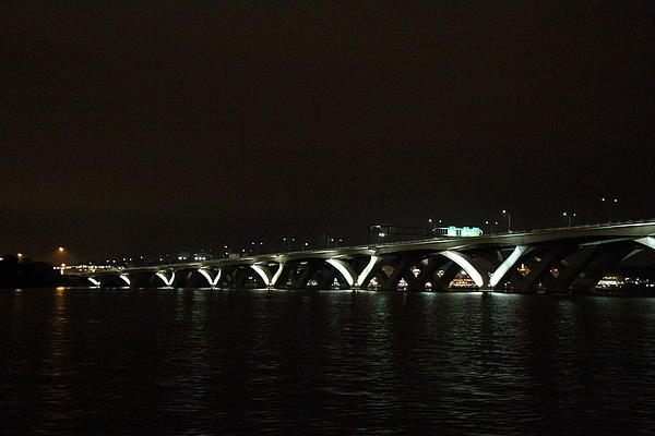 Woodrow Wilson Bridge - Washington Dc - 011339 Print by DC Photographer