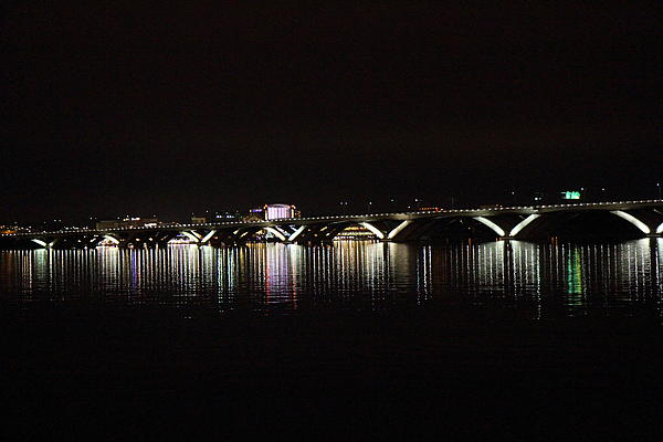 Woodrow Wilson Bridge - Washington Dc - 011344 Print by DC Photographer