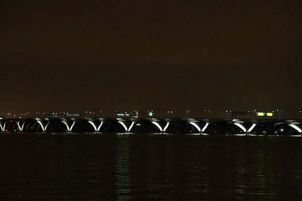 Woodrow Wilson Bridge - Washington Dc - 01138 Print by DC Photographer