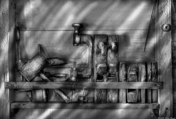 Woodworker - Wood Working Tools Print by Mike Savad