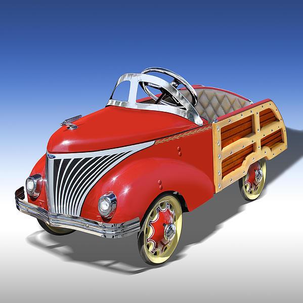 Woody Peddle Car Print by Mike McGlothlen