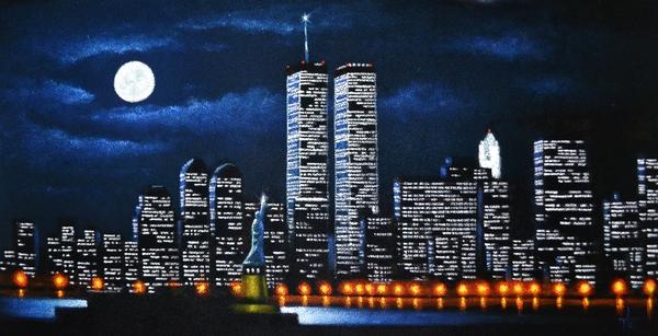 World Trade Center Buildings Print by Thomas Kolendra
