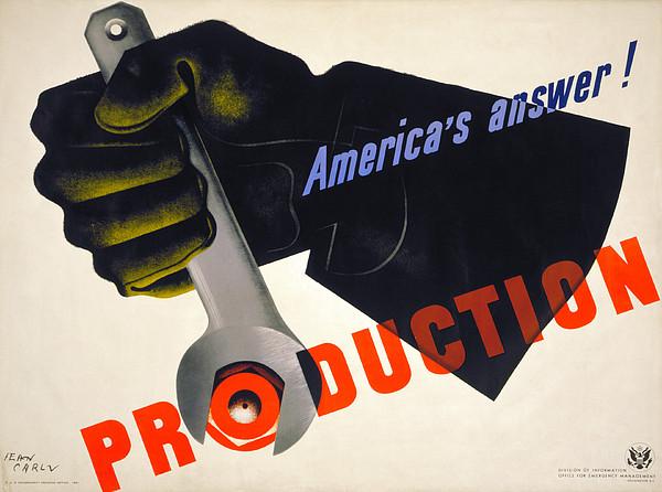 World War II Poster, 1941 Print by Granger