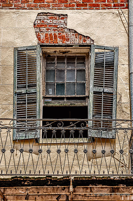 Worn Window Print by Christopher Holmes