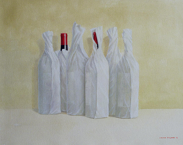 Wrapped Bottles Number 2 Print by Lincoln Seligman