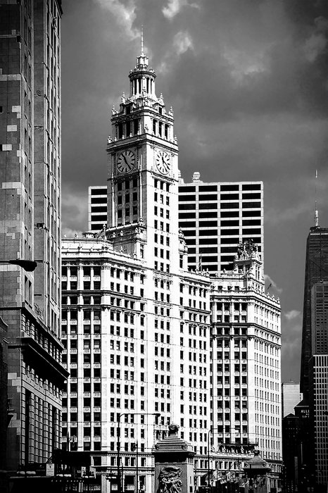 Wrigley Building Chicago Illinois Print by Christine Till