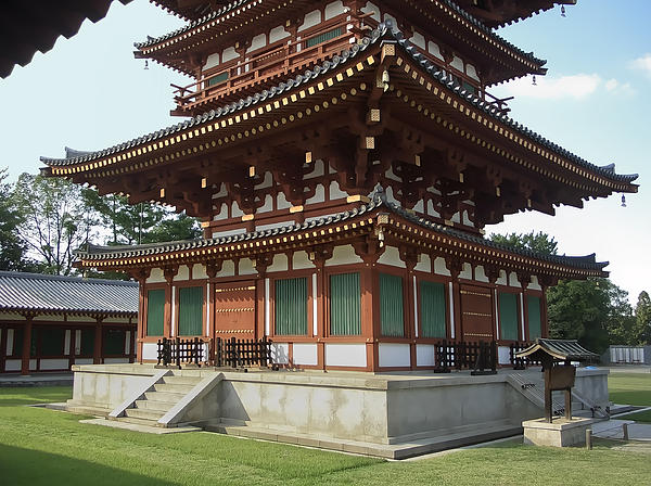 Yakushi-ji Temple West Pagoda - Nara Japan Print by Daniel ...