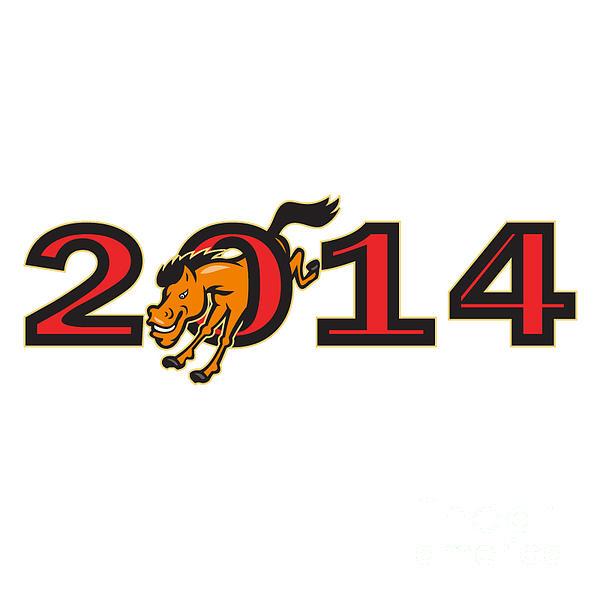 Year Of Horse 2014 Jumping Side Print by Aloysius Patrimonio