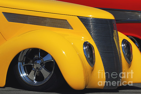 Yellow '37 Print by Dennis Hedberg