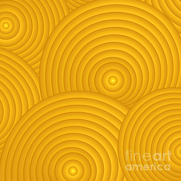Yellow Abstract Print by Frank Tschakert
