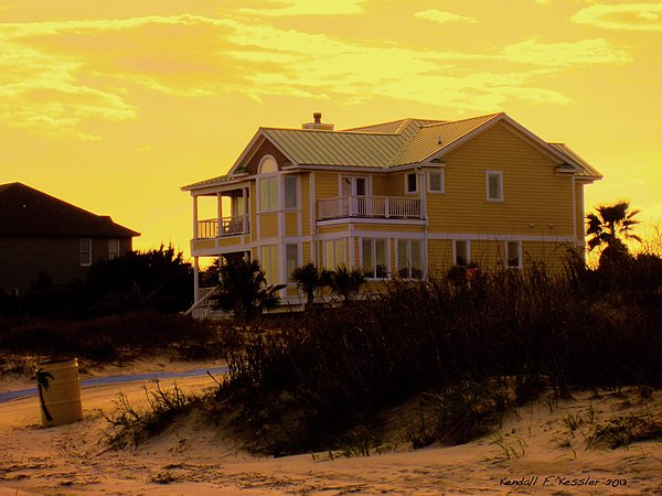 Yellow Beauty At Isle Of Palms Print by Kendall Kessler