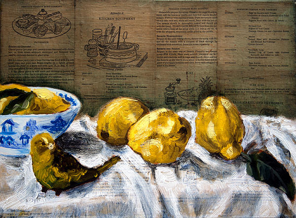 Yellow Bird Print by Gaye White