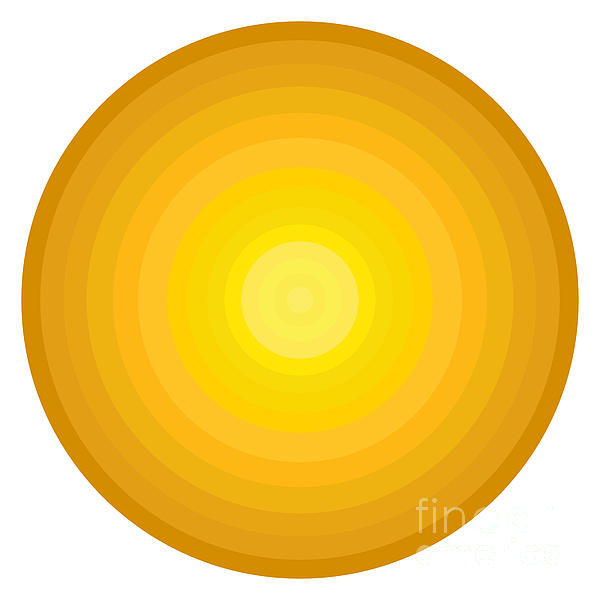 Yellow Circles Print by Frank Tschakert