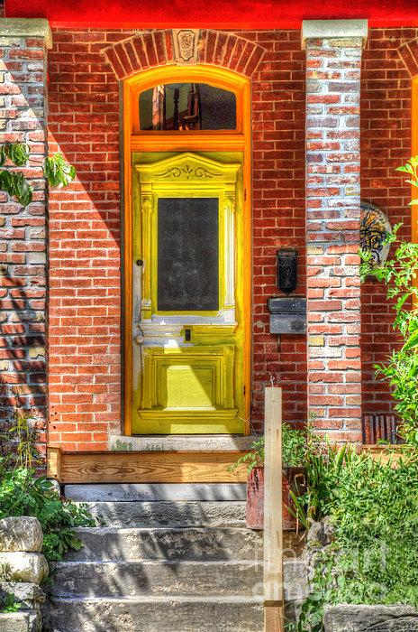 Yellow Door Print by Liane Wright