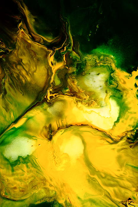 Yellow Jacket Abstract Art Print by Serg Wiaderny