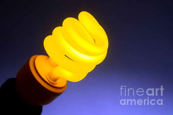 Yellow Light Print by Olivier Le Queinec