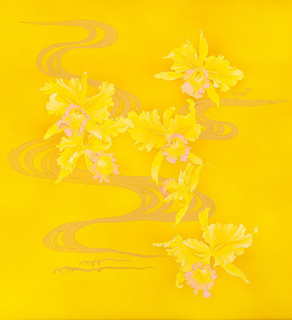 Yellow Stream Print by Haruyo Morita