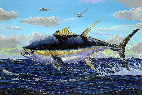 Yellowfin Crash Off0081 Print by Carey Chen