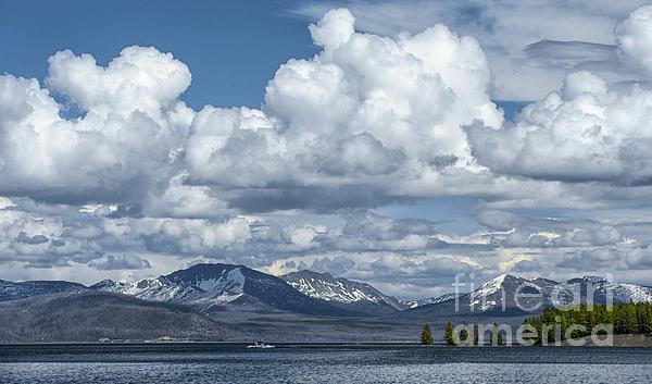 Yellowstone Lake Cloudscape Print by Sandra Bronstein