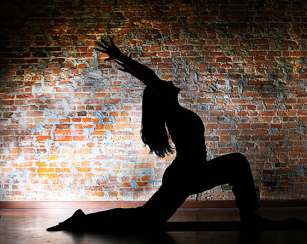 Yoga Silhouette 2 Print by Shannon Beck-Coatney