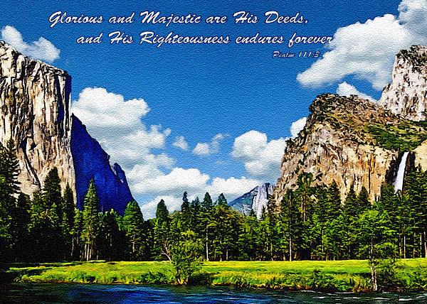 Yosemite Gods Country Print by  Bob and Nadine Johnston