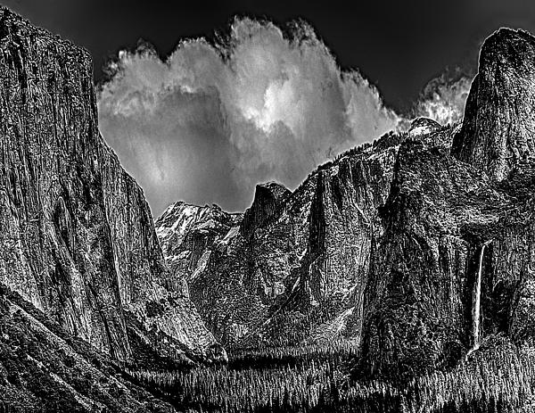 Yosemite Valley From Tunnel Print by  Bob and Nadine Johnston
