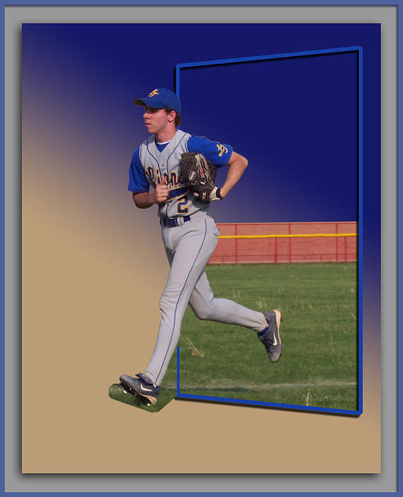 Young Baseball Athlete Print by Thomas Woolworth