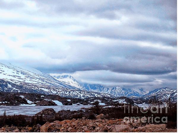 Yukon Territory Flowing River Print by Gena Weiser
