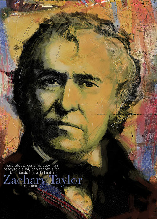 Zachary Taylor Print by Corporate Art Task Force