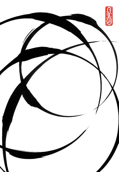 Zen Circles 4 Print by Hakon Soreide