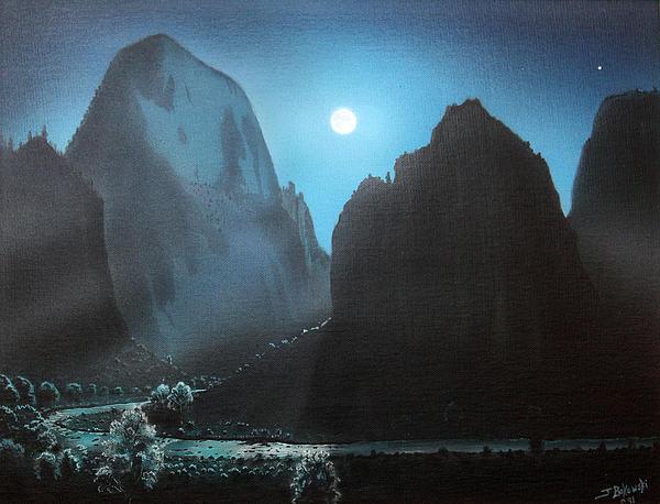 Jerry Bokowski - Zion Canyon Full Moon
