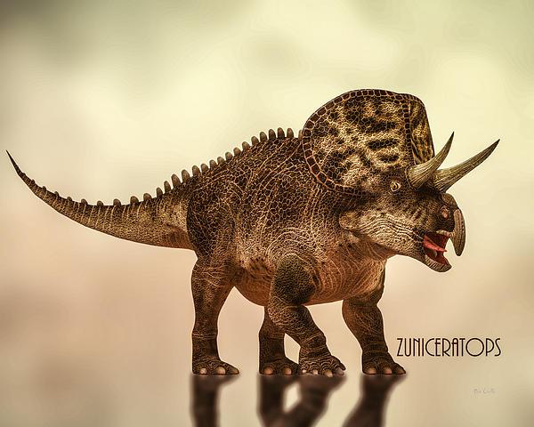Zuniceratops Dinosaur Print by Bob Orsillo