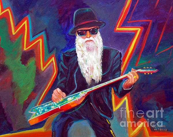 Zz Top 3 Print by To-Tam Gerwe
