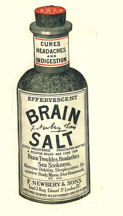 1890s Uk Brain Salt Headaches Humour Drawing  -  1890s Uk Brain Salt Headaches Humour Fine Art Print
