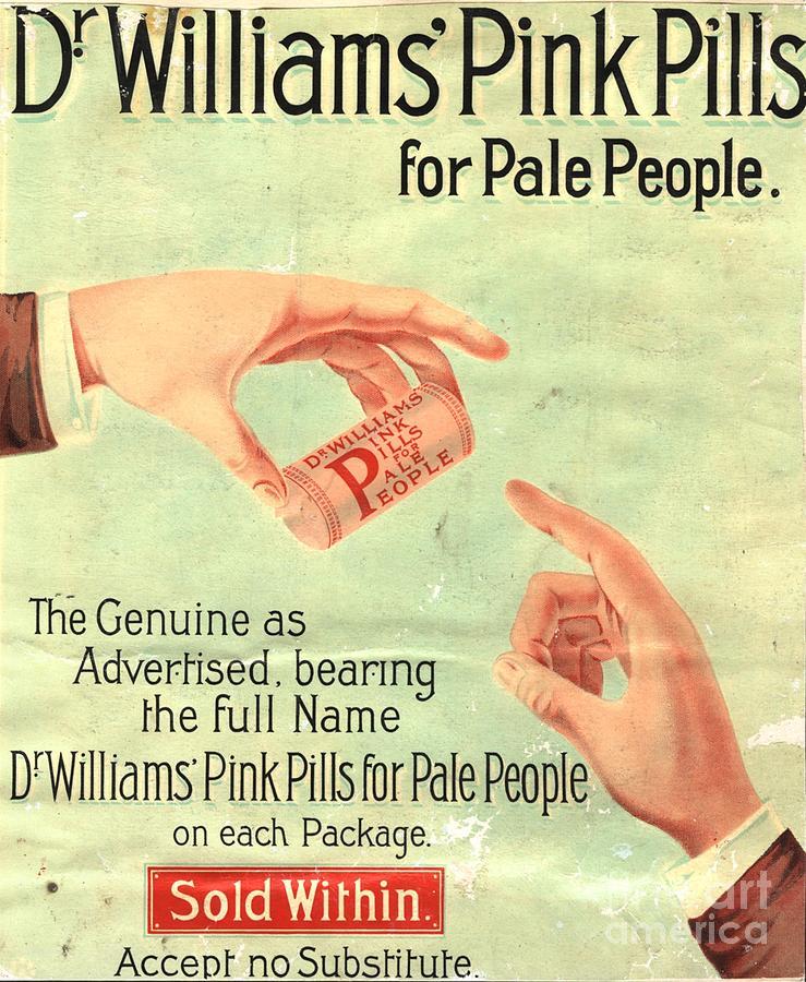 1890s Uk Dr Williams Pin Pills Medical Drawing