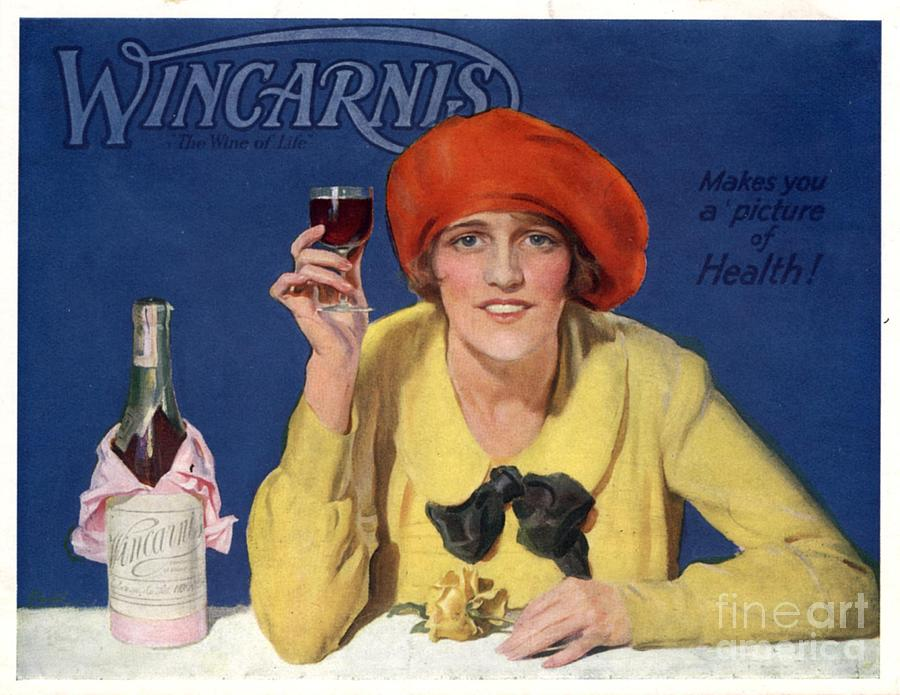 1910s Uk Wincarnis Wine Fortified Drawing