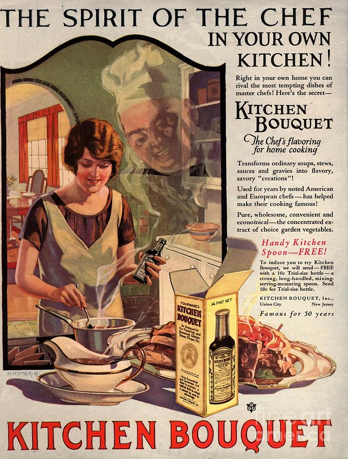 1910s Usa Cooking Kitchens Bouquets Drawing
