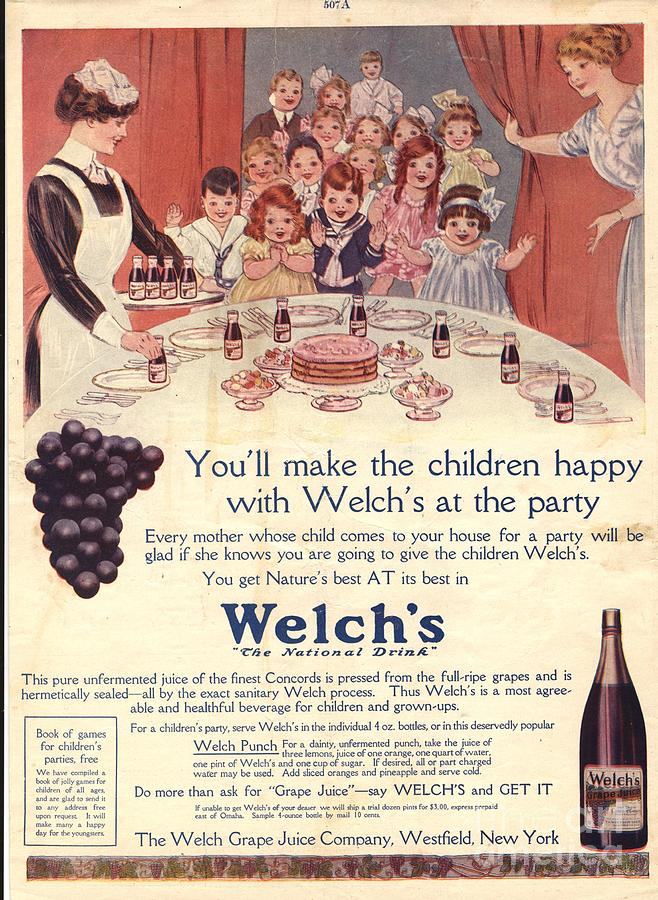 1910s Usa Welchs Juice Children�s Drawing