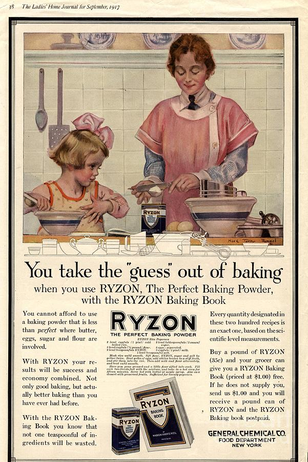 1917 1910s Usa Cooking Ryzon Baking Drawing