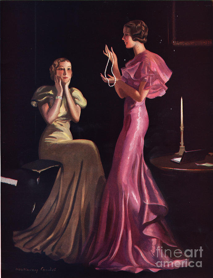 1930�s Drawing -  1930s Uk Womens Evening Gowns Dresses by The Advertising Archives