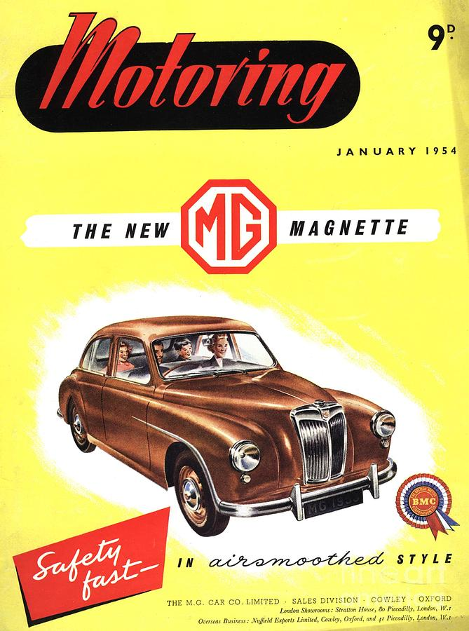 1950s Uk Cars Mg Magnette Covers Drawing