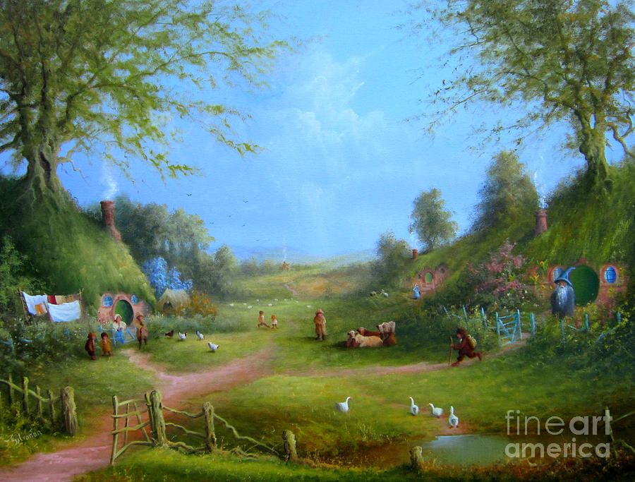 A Hobbits Adventure.late For An Appointment Painting