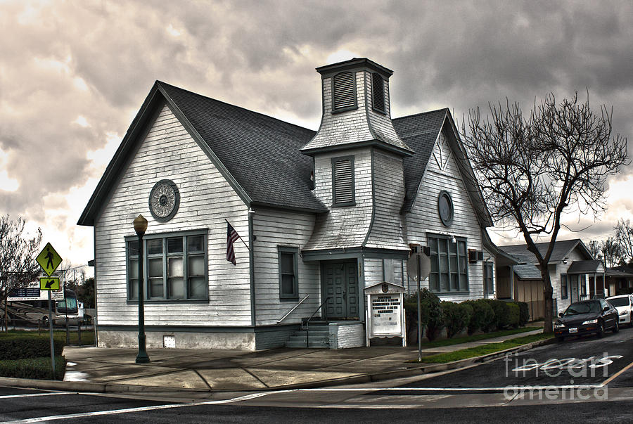 A Spooky Looking Church In Chino Photograph  -  A Spooky Looking Church In Chino Fine Art Print